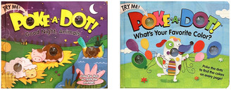 """Melissa & Doug Poke-A-Dot Book Bundle - """"Good Night, Animals"""" and """"What's Your Favorite Color?"""" Books"""