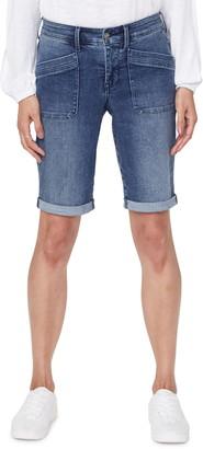 NYDJ Utility Pocket Rolled Cuff Denim Shorts