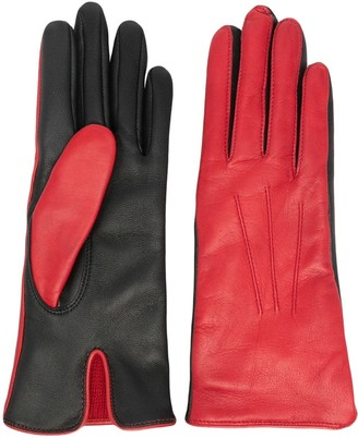 Dents Contract two-tone leather gloves
