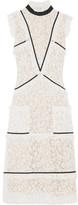Erdem Abigail Grosgrain-trimmed Cotton-blend Lace Dress - Ecru
