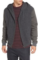 French Connection Men's Hooded Zip Sweater