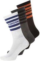 Converse 3 Pack Socks White/converse Blue Grey/black/orange