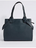 M&S Collection Leather Knot Detail Tote Bag