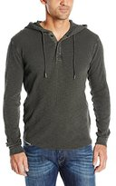 Lucky Brand Men's Lived-In Thermal Hoodley Shirt in Black Mountain