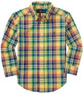 Polo Ralph Lauren Poplin Plaid Long Sleeve Shirt (Little Kids/Big Kids)