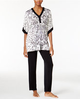 Ellen Tracy Caftan Top and Pants Pajama Set