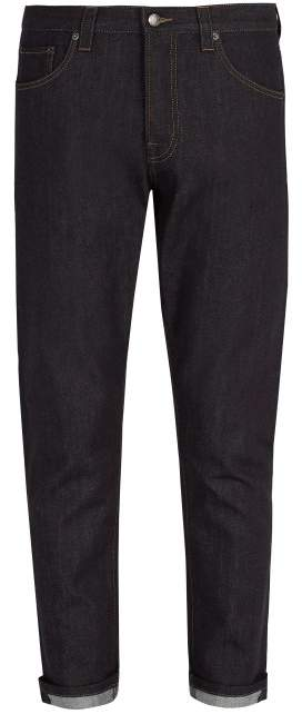Prada Mid Rise Straight Leg Jeans - Mens - Dark Blue