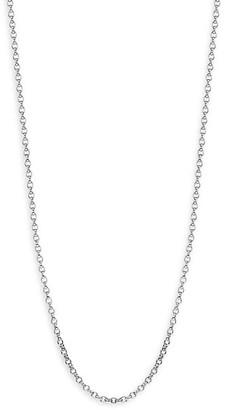 "Tamara Comolli Signature 18K White Gold Belcher-Link Chain Necklace/23.6"""