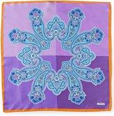 Daniel Cremieux 4-Square Paisley Silk Pocket Square