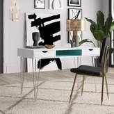 Hulme 2 Drawer Desk Mercury Row Color (Top/Frame): Blue