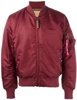 Alpha Industries sleeve detail bomber jacket