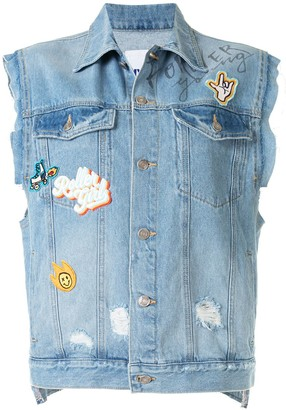 Sjyp Patch Denim Vest