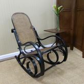 Carolina Cottage Victoria Bentwood Rocking Chair in Antique Black
