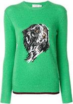Coach dog intarsia sweater - women - Polyamide/Polyester/Cashmere - XS