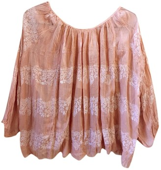 Free People Pink Cotton Top for Women