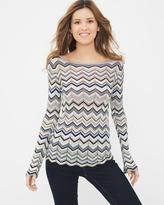 White House Black Market Zigzag Cross-Back Sweater