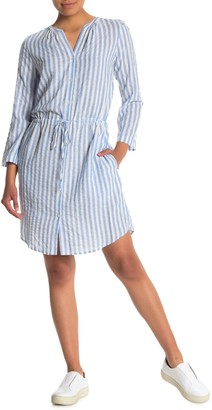 Velvet by Graham & Spencer Stripe Woven Shirt Dress
