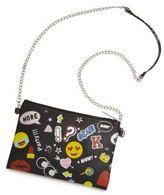 Bari Lynn Girl's Faux Leather Printed Crossbody Bag