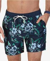 Nautica Men's Quick Dry Tropical Print Swim Trunks