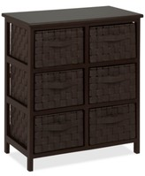 Honey-Can-Do Woven Strap 6-Drawer Chest