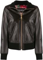 Dolce & Gabbana zip-up bomber leather jacket