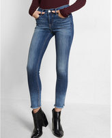 Express mid rise raw hem ankle jean legging