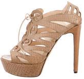 Chrissie Morris Python Platform Sandals