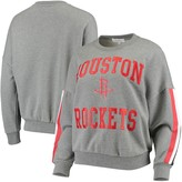 G Iii Women's G-III 4Her by Carl Banks Gray Houston Rockets Slouchy Rookie French Terry Pullover Sweatshirt