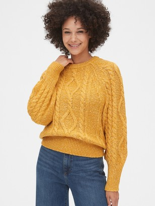 Gap Marled Cable-Knit Crewneck Sweater
