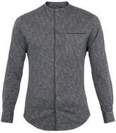 Giorgio Armani Grandad-collar Speckle-print Cotton Shirt