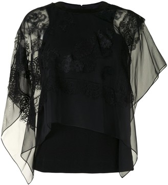 Sacai Lace-Embroidered Blouse