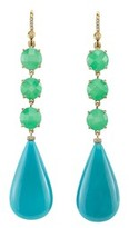 Irene Neuwirth Chrysoprase and Turquoise Drop Earrings