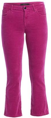 J Brand Selena Mid-Rise Velvet Bootcut Jeans