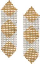 Paco Rabanne geometric pattern single earring
