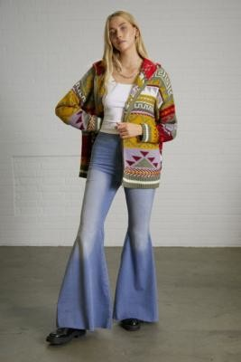 Free People Just Float On Libre Blue Flare Jeans - Blue 24 at Urban Outfitters