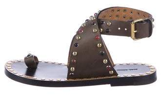 Isabel Marant Leather Ankle Strap Sandals