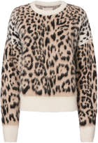 Laneus Leopard Crewneck Knit Sweater