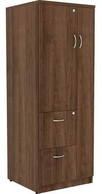 Essentials Storage Cabinet Lorell Finish: Walnut