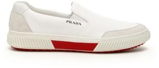 Prada Logo Slip On Sneakers