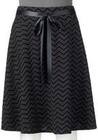 Juniors' Joe B Chevron Midi Skirt