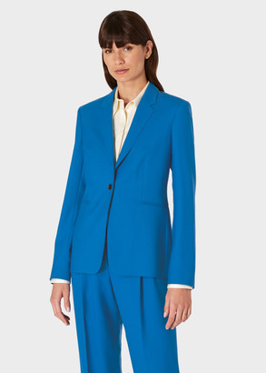 Paul Smith A Suit To Travel In - Women's Blue One-Button Wool Blazer
