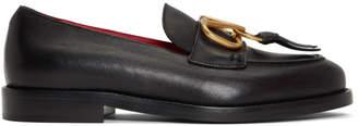 Valentino Black Garavani VRing Loafers