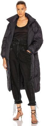 Etoile Isabel Marant Crayao Coat in Faded Black | FWRD