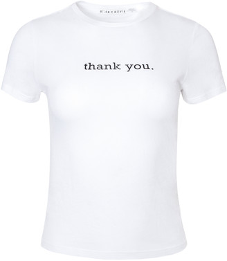 Alice + Olivia Cicely Thank You Tee