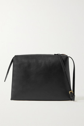 The Row Nu Twin Medium Leather Shoulder Bag - Black