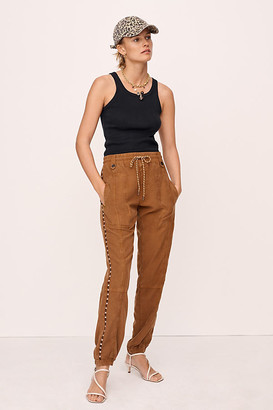 Anthropologie Byron Seamed Utility Joggers By in Grey Size XS