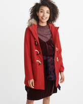Abercrombie & Fitch Wool-Blend Duffle Coat