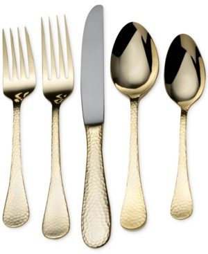 Mikasa Mila Gold-Plated 45-Piece Flatware Set, Service for 8