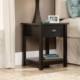 Three Posts Rossford 1 Drawer Nightstand Color: Estate Black