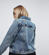 Zizzi Lace Detail Denim Jacket